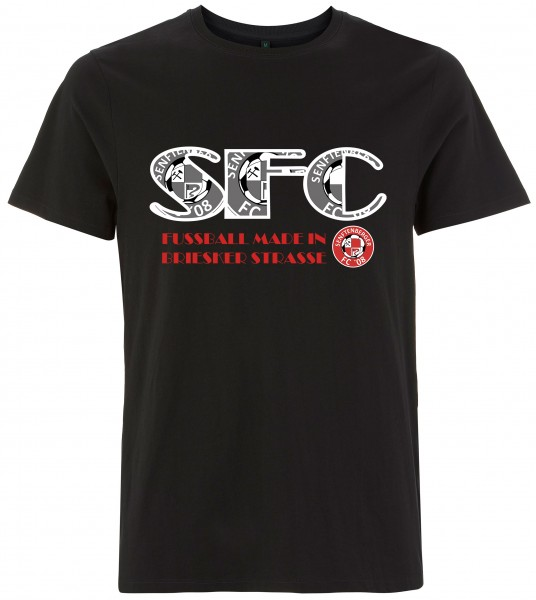 Senftenberger FC '08 - FAN-Shirt SFC08 / Fußball made - Kinder deep black L190K