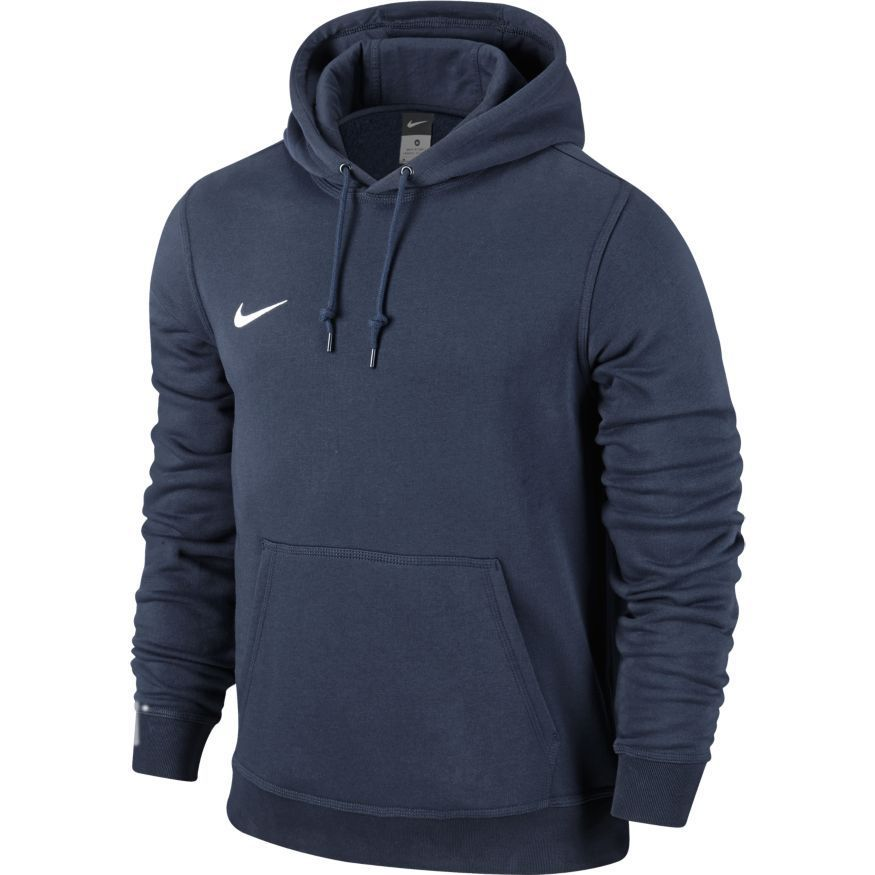 Nike Team Club Hoody Navy BlauWeiß (Navy ,Small)