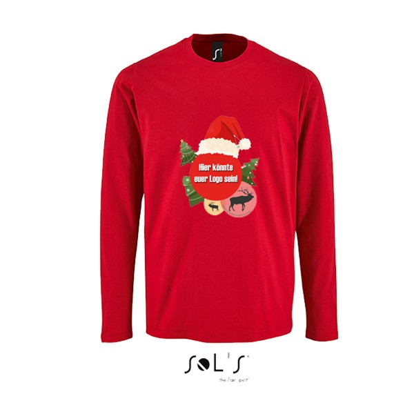 "Neuzeller SV 1922 - ""X-MAS Special"" SOL´s Imperial Long Sleeve Kids T-Shirt red L02947"