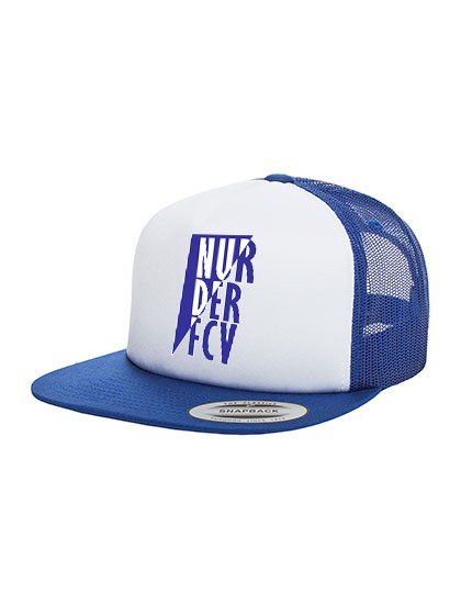 "FC Viktoria Jüterbog - ""NURDERFCV"" FLEXFIT Foam Trucker Cap One Size Royal/White/Royal FX6005FW"