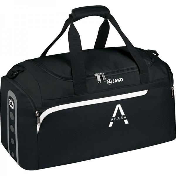 ABASA Gesundheitssport - Jako Sporttasche Performance mit seitlichen Nassfächern schwarz/weiß/grau 1997-08