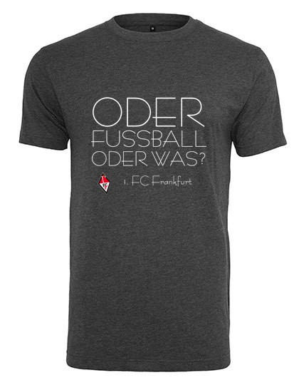 1. FC Frankfurt (Oder) - Build Your Brand T-Shirt Round Neck Charcoal (Heather) BY004