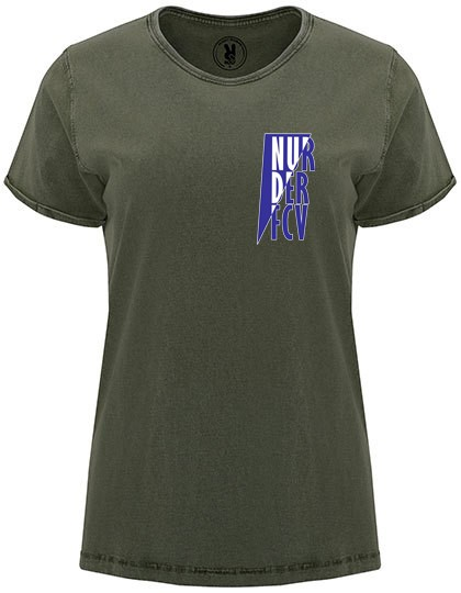 "FC Viktoria Jüterbog - ""NURDERFCV"" Roly Husky Woman T-Shirt Dark Green Brown RY6691"