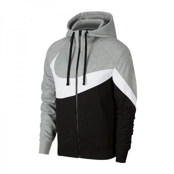 hot sale online c69ab 6c875 Nike French Terry Full-Zip Hoodie Herren Kapuzenjacke grau/weiß AR3084-063