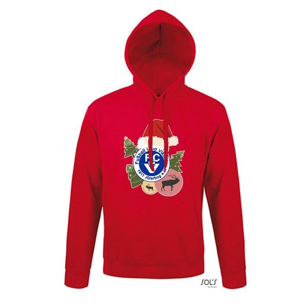 "FC Viktoria Jüterbog - ""X-MAS Special"" SOL´s Unisex Hooded Sweat-Shirt Snake red L330"