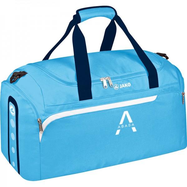 ABASA Gesundheitssport - Jako Sporttasche Performance mit seitlichen Nassfächern aqua/weiß/marine 1997-45