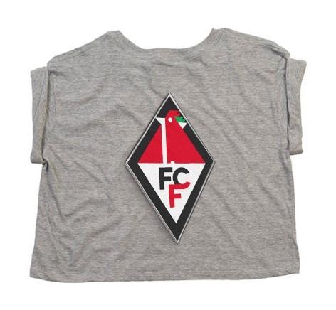 1. FC Frankfurt (Oder) - Mantis Women`s Crop Top T Heather Grey Melange P96